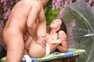 El Storm Uses Her Taut Teenage Cooter to Drain Spunk